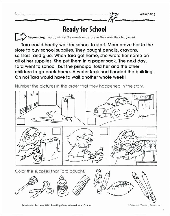 Sequence Worksheets for 3rd Grade Sequencing events Worksheets for Grade 2