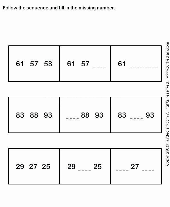 Sequence Worksheets for Kids Number 25 Worksheets for Preschool