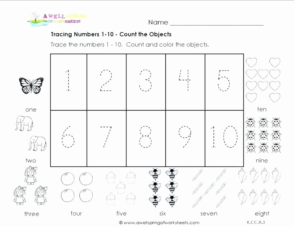 Sequence Worksheets for Kids Number Worksheets for toddlers Identifying Numbers