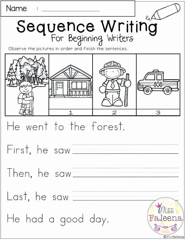 Sequence Worksheets for Kids Writing Exercise Worksheets