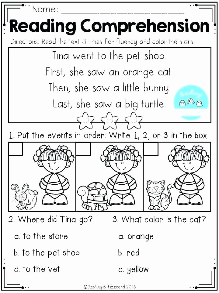 Sequence Worksheets for Kindergarten Free Reading Sequencing Worksheets First Grade Printable