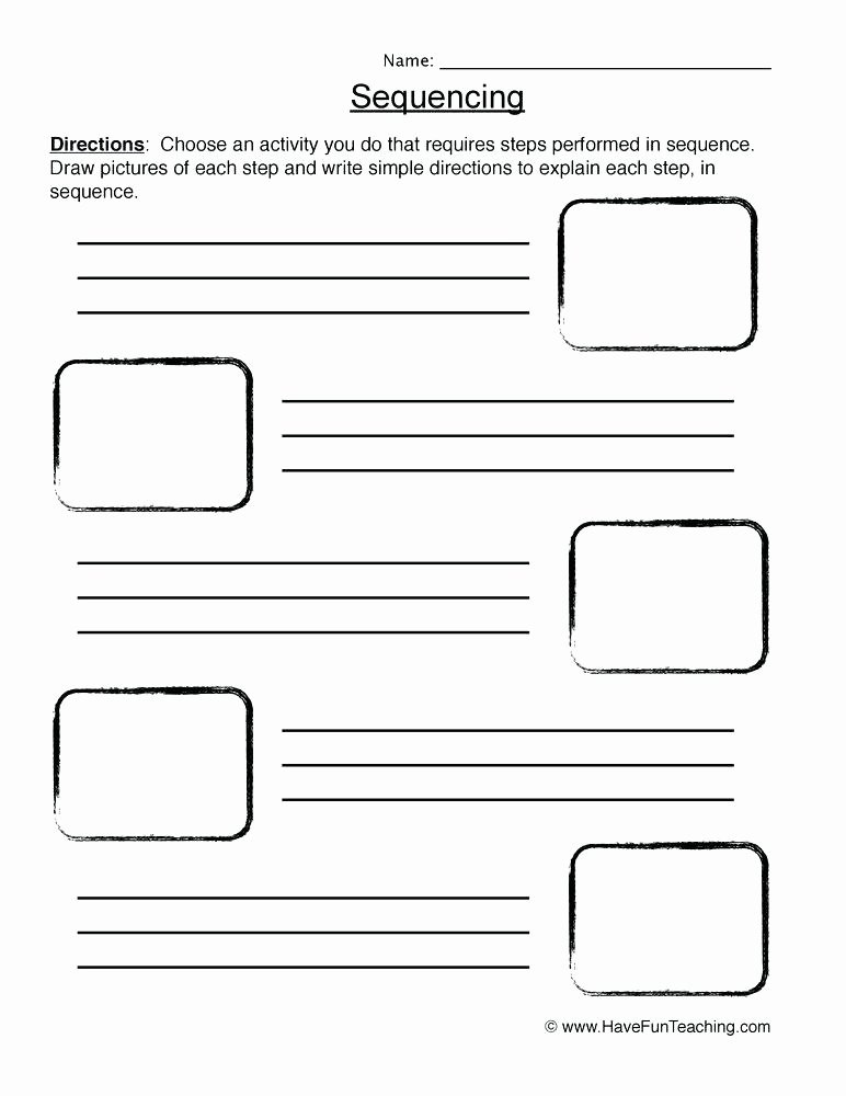 Sequence Worksheets for Kindergarten Free Sequencing Worksheets