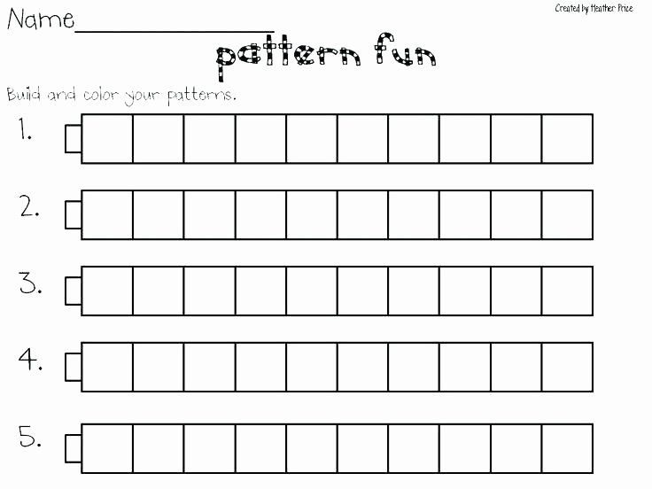 Sequence Worksheets for Kindergarten Number Sequence Worksheets 1st Grade Pattern 1 Year Continue