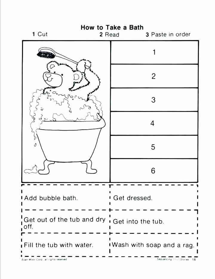 Sequence Worksheets for Kindergarten Sequence events Worksheets Sequencing Grade 5 Free Cut