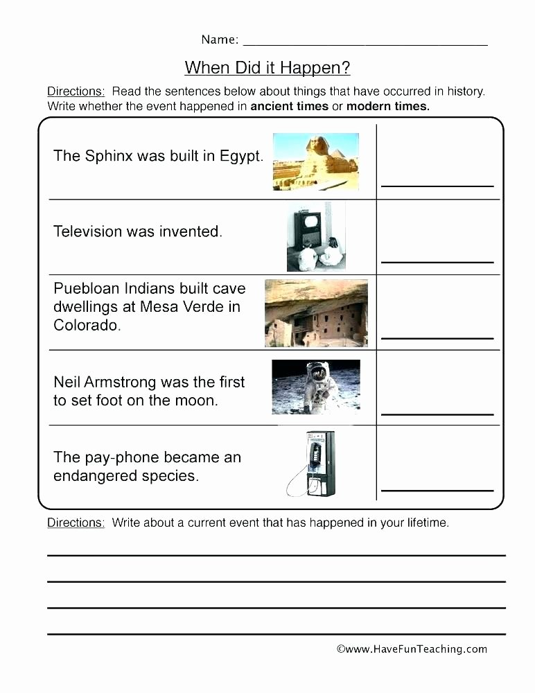 Sequencing events Worksheets Current events Lesson Plans for Middle School Worksheet
