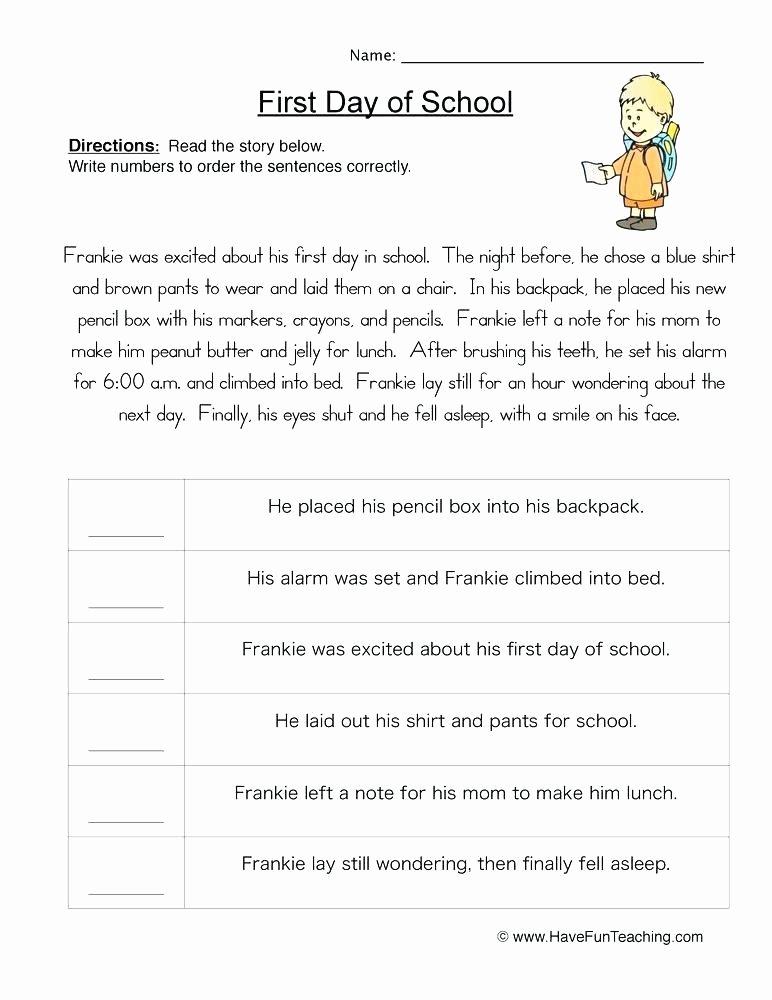 Sequencing events Worksheets Grade 6 order events Worksheet 2 Sentence Sequencing Worksheets