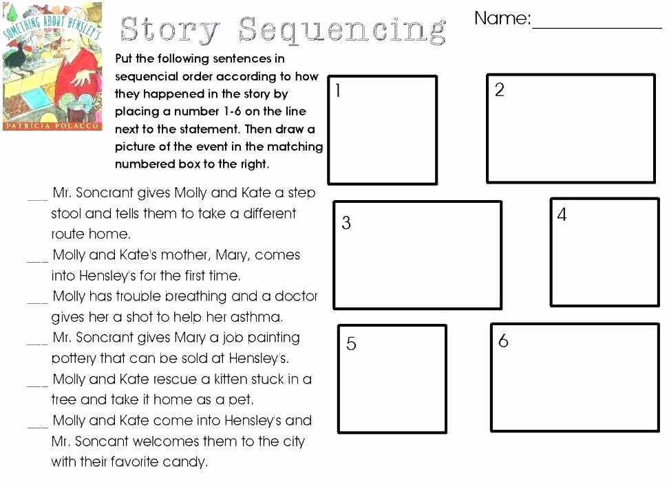 Sequencing events Worksheets Sequencing Worksheets for Activities Story Unique Picture