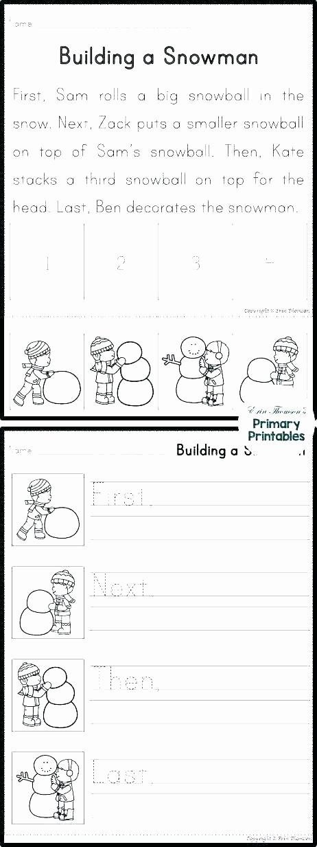 Sequencing Picture Worksheets Writing Exercise Worksheets