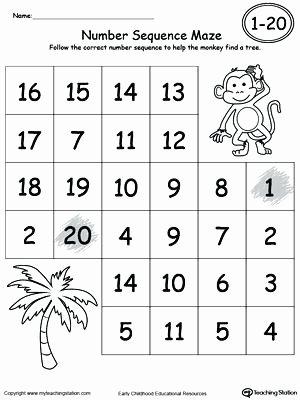 Sequencing Pictures Worksheets Number Sequencing Worksheets Kindergarten Practice Number