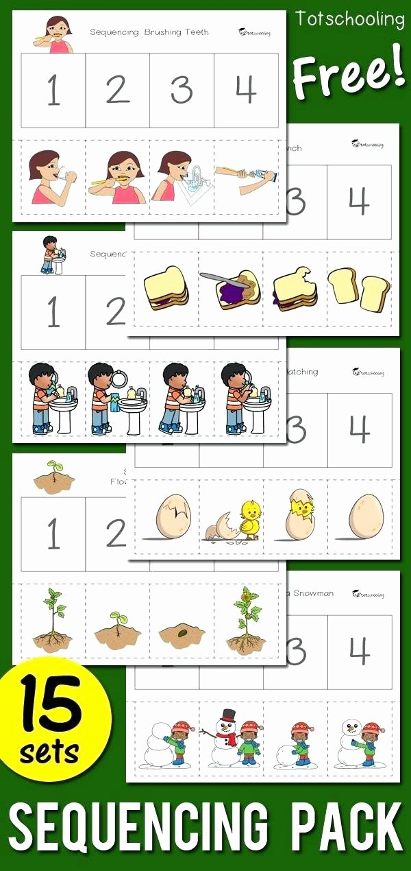 Sequencing Story Worksheet 48 Sequencing for Kindergarten