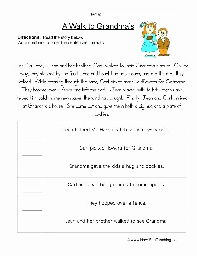 Sequencing Story Worksheets ordering Numbers Worksheets Have Fun Teaching Sequencing