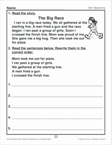 Sequencing Worksheet 2nd Grade Best Of Sequencing Worksheets for Grade Printable Story 2nd 5