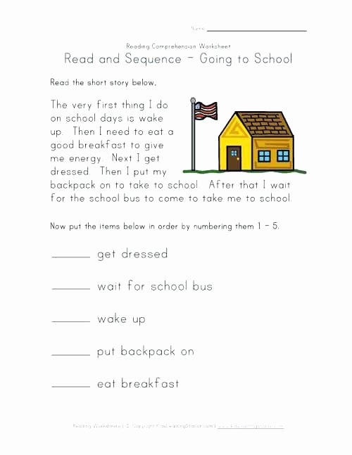 Sequencing Worksheet 2nd Grade Fresh Sequence Worksheets First Grade Read and Sequence Worksheet