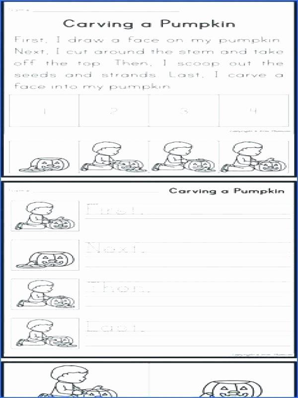 Sequencing Worksheet First Grade Activity Worksheets for Grade 3
