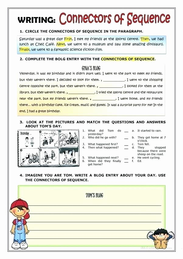 Sequencing Worksheet First Grade Cut and Paste Story Sequencing Worksheets Sequence