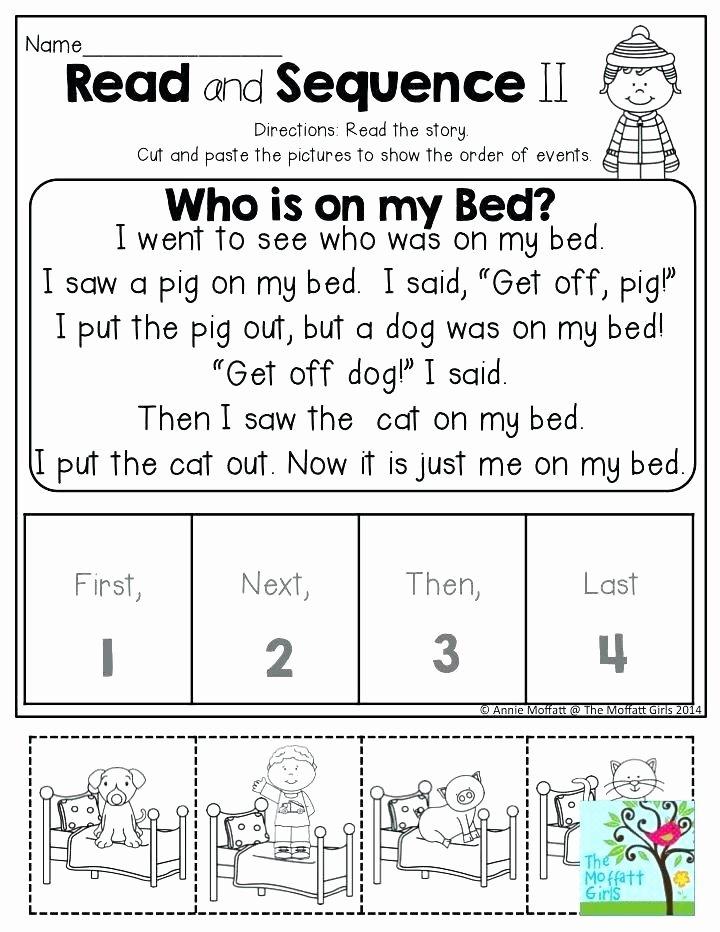 Sequencing Worksheet First Grade First Next Last Worksheets for Kindergarten Printable Math