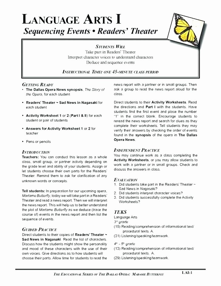 Sequencing Worksheets 5th Grade Sequencing events Worksheets for Grade 5 – Newstalkfo