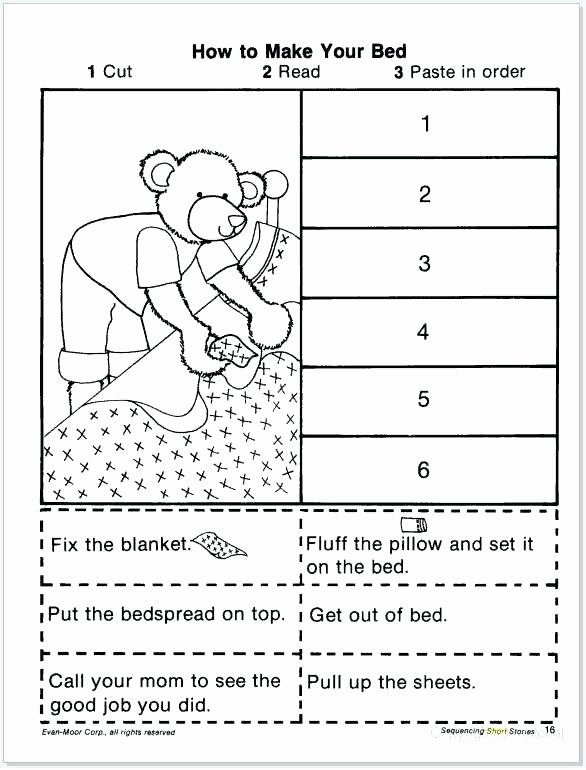 Sequencing Worksheets for 1st Grade Cut and Paste Story Sequencing Worksheets Sequence
