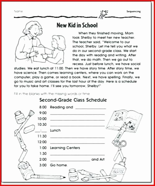 Sequencing Worksheets for 1st Grade Free Printable Sequence events Worksheets Grade