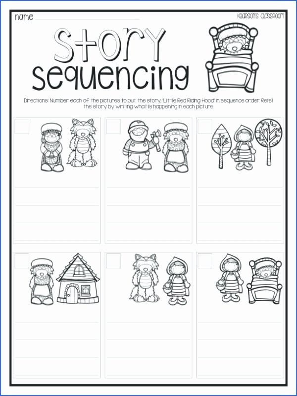 Sequencing Worksheets for Kindergarten Sequence events Worksheets Grade Spelling Ideas