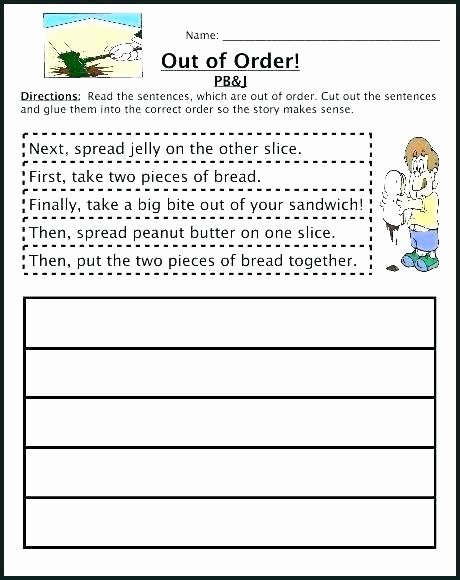 Sequencing Worksheets for Kindergarten Sequence events Worksheets Sequencing Grade 5 Free Cut