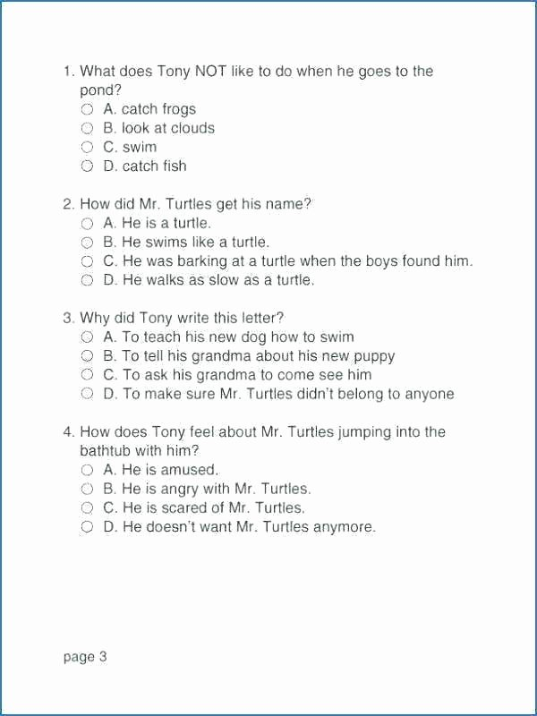 Sequencing Worksheets for Middle School Reading and Prehension Worksheets Grade 7 Reading