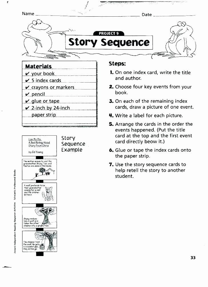 Sequencing Worksheets Middle School Lon Po Po Worksheets