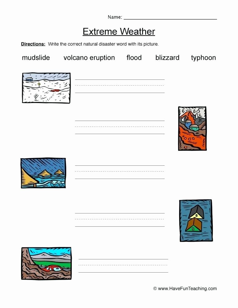 Severe Weather Worksheets Weather Word Wall Printable
