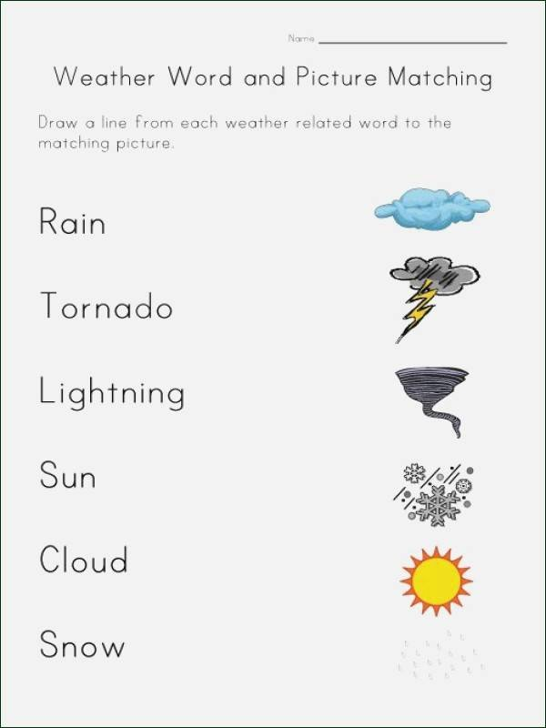 Severe Weather Worksheets Weather Worksheets