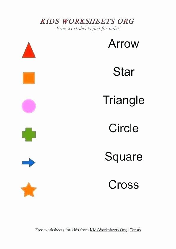 Shapes Worksheet for Kindergarten Matching Preschool Worksheets Kids Matching Worksheets with
