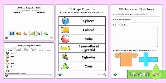 Shapes Worksheet for Kindergarten Shapes Worksheets Kindergarten Math 1st Grade 3d Second
