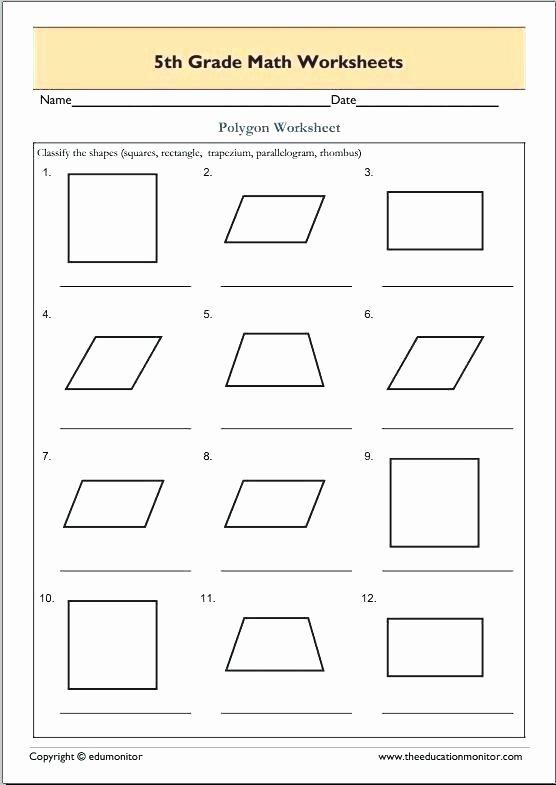 Shapes Worksheets 1st Grade First Grade Geometry Worksheets