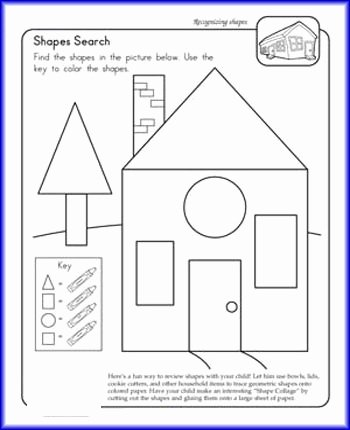Shapes Worksheets 1st Grade Shape Search Worksheet Teaching