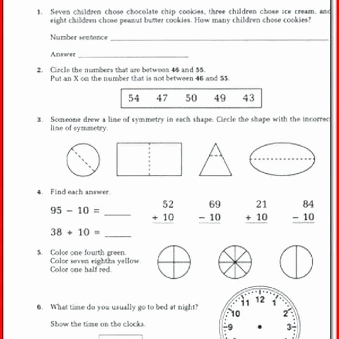 Shapes Worksheets 1st Grade Two Dimensional Shapes Worksheets Grade Math Shapes