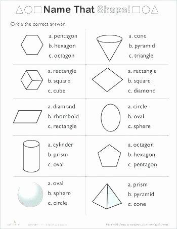 Shapes Worksheets 2nd Grade 2nd Grade Shapes Worksheets Free Grade Worksheets Paring