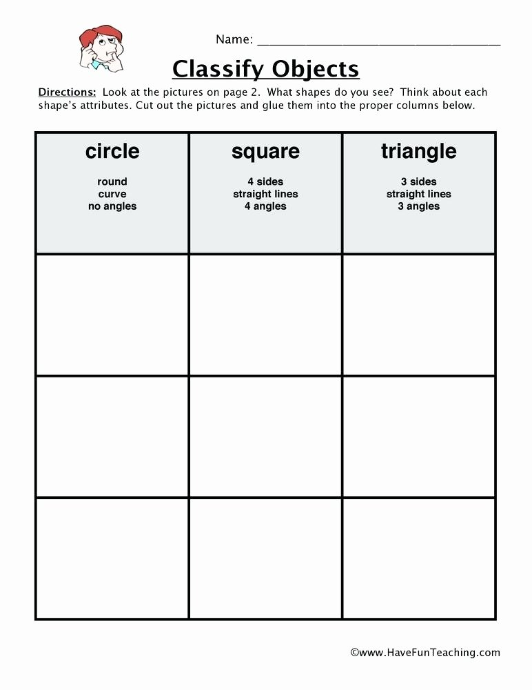 classifying shapes worksheet printable worksheets 2d and 3d 2nd grade classification
