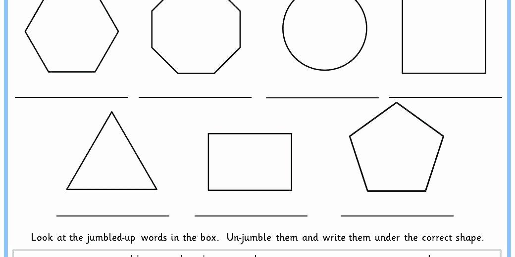 Shapes Worksheets 2nd Grade Identifying Shapes Worksheets 2nd Grade