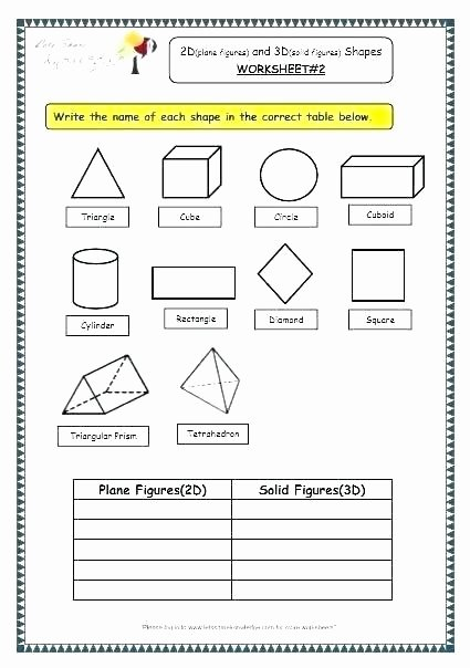 Shapes Worksheets 2nd Grade Math Shapes Worksheets Resources Free Two Dimensional Grade