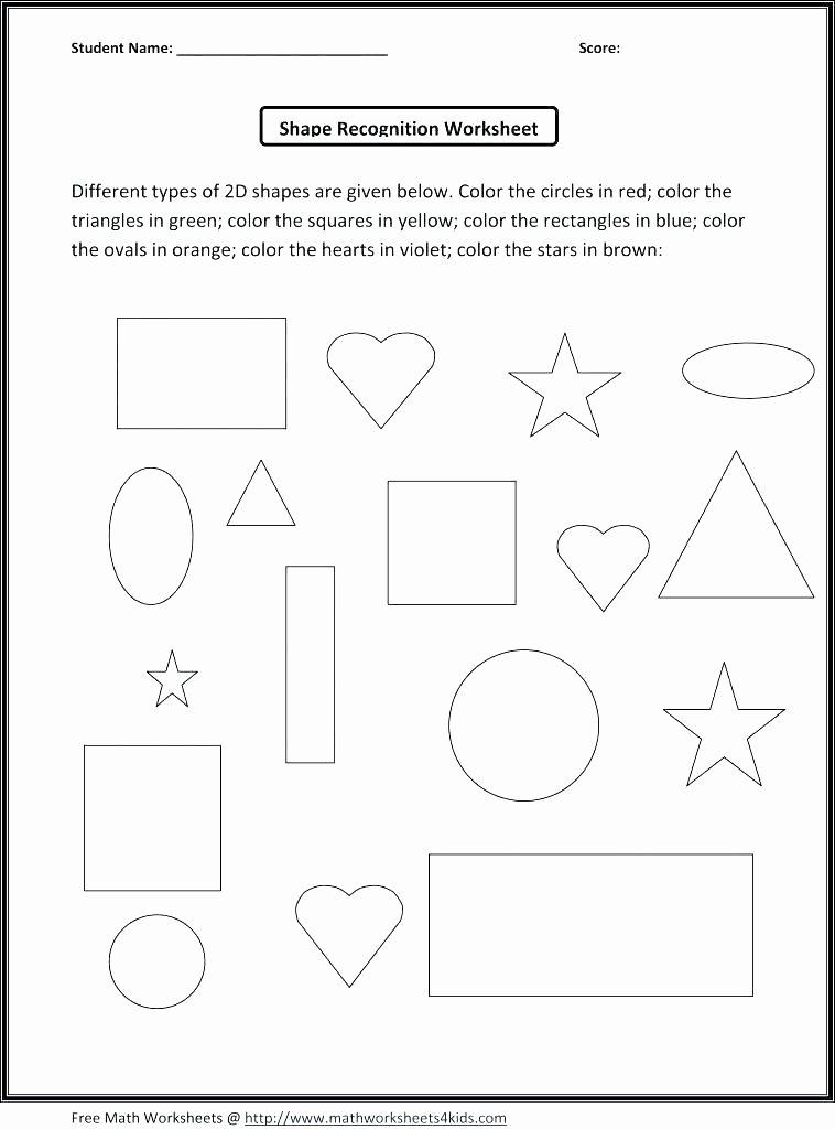 Shapes Worksheets for Kindergarten Pdf Identifying Shapes Worksheets