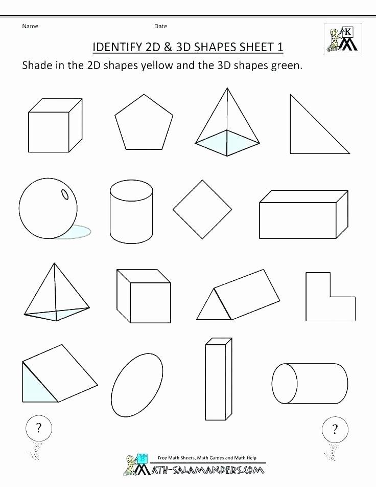 Shapes Worksheets for Kindergarten Pdf Kindergarten Shapes Worksheets Free Shape Worksheet and