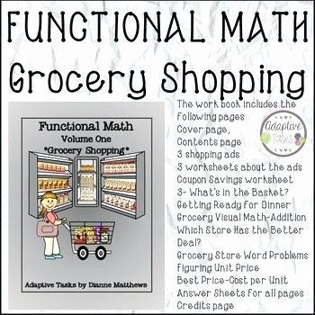 Shopping Math Worksheet Functional Maths Worksheets
