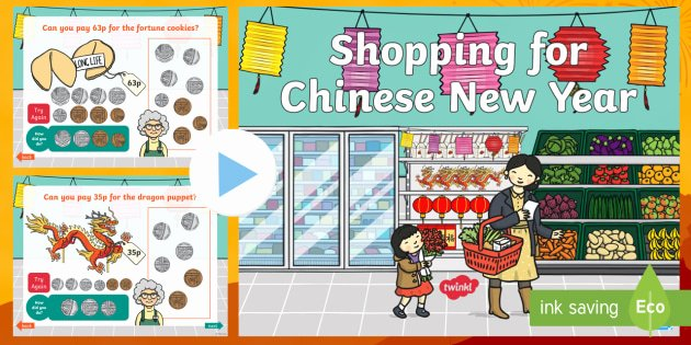 Shopping Math Worksheet Shopping for Chinese New Year Powerpoint Chinese New Year