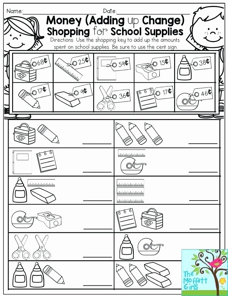 Shopping Math Worksheets Making Change Worksheets 2nd Grade