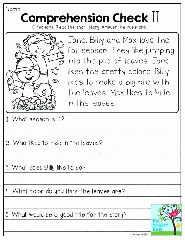 Short A Worksheet First Grade 1st Grade Reading Prehension Worksheets First Multiple