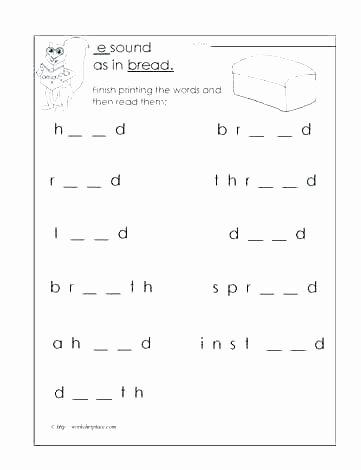 Short E Worksheets Free Short Vowel Worksheets Free Long Grade O Kindergarten
