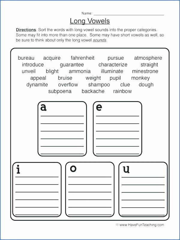 Short O Worksheets for Kindergarten Long O Worksheets 1st Grade