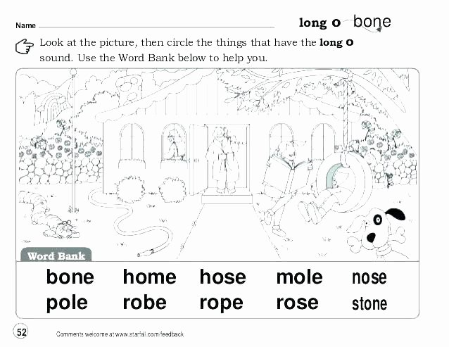 Short O Worksheets for Kindergarten Long O Worksheets Phonics Worksheets Long A Silent E Words O