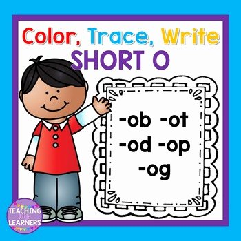 Short O Worksheets for Kindergarten Short O Word Families