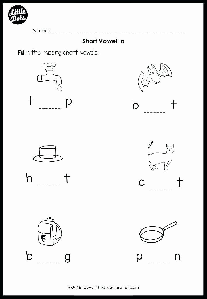 Short O Worksheets for Kindergarten Vowel Worksheets for Kindergarten Free Printable Short