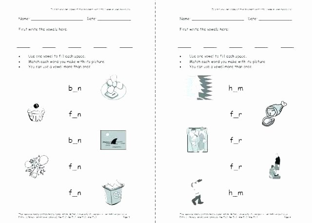 Short O Worksheets Free Long O Worksheets 1st Grade